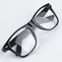 Wholesale Geek Glasses Wholesale - Wholesale-Fashion Summer Style Candy Color Glasses Unisex Clear Lens Nerd Geek Glasses Men Women Eyewear