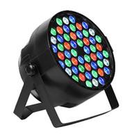 étage éclairé achat en gros de-54X3W LED DJ PAR lumière RGBW 162Watt DMX 512 Éclairage de la scène Disco Projecteur pour le mariage à la maison Église Concert Éclairage de piste de danse
