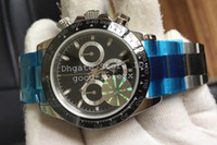 Wholesale Ceramic Chronograph Watches - Top JF Factory V2 Version Mens Automatic Eta 7750 Watch Men Black Ceramic Bezel Valjoux Crystal Sport Watches Chronograph Wristwatches