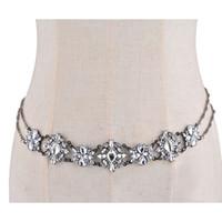 Wholesale belly cross - Color Good Quality Body Waist Chain Bohemian Wedding Crystal Statement Jewelry Cross Pendant Waist Chain Hot Sale
