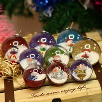 Wholesale Christmas Ball Opens - New opening and closing Christmas pendant decoration children's toys plastic transparent Christmas ball Christmas gift wholesale