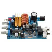 ingrosso d basso-Freeshipping TPA3116 + LM1036 Classe D DC18V-24V 2 x 50 W CSR4.0 Scheda amplificatore Bluetooth Treble Bass Regolazione Amp audio