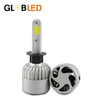 Wholesale 2x H7 - H1 LED Bulb Super Bright Auto Car Headlight 2X 36W 8000LM 6500K 12V 24V Single Beam All In One COB Chip Automobiles Lamp