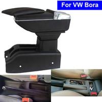 Wholesale Center Storage Console - Leather Car Center Console Armrest Storage Box for Volkswagen VW Bora 2001 2002 2003 2004 2005 2006 2007 2008 2009 2010 Armrests
