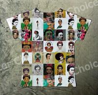 Wholesale Cartoons Artist - Track Ship+New Hot Fresh Vintage Retro T-shirt Top Tee I Love Artist Woman Frida Kahlo Cartoon 1419