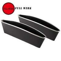 Wholesale box shelves - Wholesale- FULL WERK 2pcs 1lot Car Storage Seat Gap Slit Pocket Holder box trash Bag Organizer Shelves phone holder Stowing Tidying