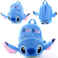 Wholesale-Plush Lilo Stitch Mochila Cute Cartoon STITCH Adjustable School Bags 1-3 años de edad para Brithday Regalos jardín de infancia #LN