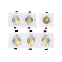 Wholesale 7w Cob Led Driver - Wholesale- Square Recessed COB Downlight COB 7W 9W 12W 15W 14W 24W 21W 36W LED Ceiling Lamp AC85-265V Indoor LED Spot Light With Driver