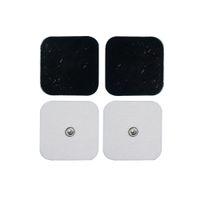 almohadillas de diez unidades al por mayor-Almohadillas de electrodos conductivos para el tamaño de la unidad TENS / EMS 2 * 2 pulgadas con botón Electro Pads de 3,5 mm