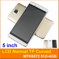 Wholesale Smartphone Casing - S8 5 Inch Smartphone MTK6572 Dual Core Android 5.1 Dual SIM 3G Unlocked Curved Screen 960*540 Flashlight Mobile Cell phone Free with case 5