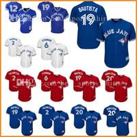 Wholesale Toronto 19 - Toronto Blue Jays Jersey 20 Josh Donaldson 19 Jose Bautista 2 Troy Tulowitzki 29 Joe Carter Marcus Stroman Alomar Stitched Baseball Jerseys