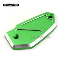 Wholesale Motorcycle Abs Brake - For KAWASAKI Z800 2013 2014 2015 2016 Motorcycle Accessories CNC Aluminum Front Brake Fluid Reservoir Cover Cap Green