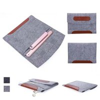 Wholesale Genuine Leather Ipad Mini Sleeve - For iPad Mini 1 2 3 4 Air 5 6 Pro 10.5 Universal New Fashion Soft Felt Sleeve Cover Carrying Case Protective Bag 2 Compartments OPP BAG