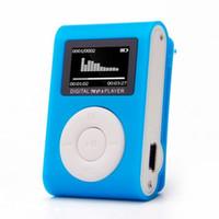Wholesale mini plastic clip mp3 player resale online - USB Mini Clip LCD Screen MP3 Music Player Support GB Micro SD TF Card Media MP3 Player Plastic Blue