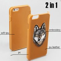 Wholesale Two Phones One Case - New For iPhone7 i7plus iPhone 6s Embroidery Animal Phone Case Two-in-One also Samsung S8plus Protective Case with Retail Bag Free Shipping