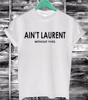 cópia engraçada das letras camisetas venda por atacado-Atacado- 2016 verão mulheres Tshirt não é letras Imprimir algodão Casual engraçado T-Shirt preto branco de manga curta Slim Sexy camiseta F4203-66