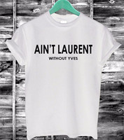 kadınlar seksi tişört yaz toptan satış-Toptan-2016 Yaz Kadın Tshirt AIN'T Mektuplar Baskı Pamuk Rahat Komik T-Shirt Siyah Beyaz Kısa Kollu Ince Seksi T Shirt F4203-66