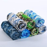 Wholesale Yoga Hand Towels - Camouflage Ice Towel Camo Utility Enduring Instant Cooling Towel Cool Towel Outdoor Sports Yoga Fitness Hand Towels KKA1796