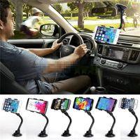 universal iphone mount venda por atacado-Suporte universal do carro do telemóvel do painel do pára-brisa do braço longo da montagem do carro com o copo forte da sucção e braçadeira de X para o iPhone 6 / 6s
