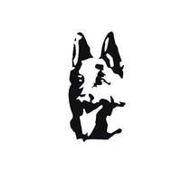 Wholesale German Cartoons - 2017 Hot Sale Car Styling For German Shepherd Car Decal Sticker For Interesting Motorcycle Vinyl Decoration Creative Stickers Jdm