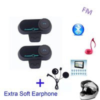 FM! Fone de ouvido extra suave! 2PCS 800M TCOM-VB Hi-Fi Motocicleta Intercom BT Interphone Wireless Motocicleta Bluetooth Capacete
