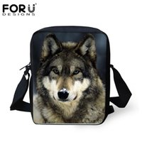 Wholesale Bolsos 3d - Wholesale- 3D Animal Wolf Pattern Women Messenger Bags for Ladies New Casual Crossbody Bags,Children Small Travel Shoulder bag Bolsos Mujer