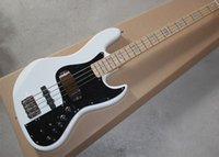 Factory Custom White 4 String F Marcus Miller Signature Jazz Bass 9V Pastillas activas Eletric Bass Guitar Nature Color