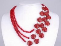 Wholesale Silver Natural Ruby Necklace - free shipping >>>>>AAA Natural 2x4mm NATURAL RUBY FACETED BEADS
