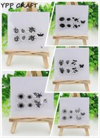 Großhandel-YPP CRAFT Blumen transparente klare Silikon Stempel für DIY Scrapbooking Planer / Card Making / Kids Fun Handwerk Dekoration Supplies