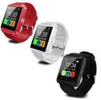 u8 интеллектуальный вызов ответа на вызов оптовых-U8 Smartwatch Bluetooth GT08 DZ09 смарт-часы Наручные часы для iPhone 7 7 Plus Samsung S8 сообщение ответ на вызов Пассометр