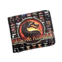 kombat spiele großhandel-Wholesale- Spiel Short Wallet Mortal Kombat Thor Saw Inside Out Chucky Thundercats Halo Purse Kredit Oyster License Card Man Wallet