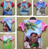 Wholesale Teen Wholesale Shirts - Moana Girl T-shirt Children Baby Boys Short Sleeves Kids Summer Clothes Teen Girls Clothing Cartoon T-shirt Monya