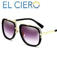 Wholesale Unisex Brown Sunglasses - EL CIERO Designer Sunglasses For Men & Women 2017 High Quality Square Sun Glasses Unisex Fashion Luxury Shades UV400 Protection