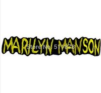 """Wholesale Wholesale Marilyn T Shirts - 5.5"""" MARILYN MANSON Music Band EMBROIDERED IRON On Patch T shirt Transfer APPLIQUE Heavy Metal Rock Punk Badge"""