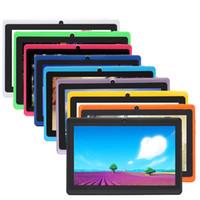 bajo precio de android al por mayor-Q88 7 pulgadas Tablet PC Android 4.4 Tablet PC Precio bajo A33 Quade Core doble cámara 8GB 512MB tabletas baratas capacitivas