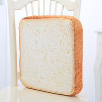 Wholesale Wholes Video Games - 40*40CM Creative Whole Wheat Toast Bread Pillow Plush Doll Toy Soft White Bread Cushion Birthday Gift Home Bakery Shop Decor