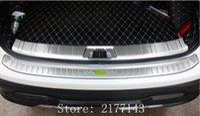 nissan edelstahl großhandel-Für Nissan Qashqai J11 2016 2017 Edelstahl Hinten Äußere + Innere Stoßschutz Tür Einstiegsplatte Abdeckung Trim