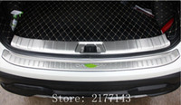 Wholesale Rear Steel Bumpers - For Nissan Qashqai J11 2016 2017 Stainless Steel Rear Outer + Inner Bumper Protector Door Sill Plate Cover Trim