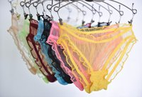 Wholesale Sexy Ladies Underpants - 2016 new large size hollow lady underwear Ultra-thin underpants sexy women underwear transparent panties 8 pcs lot free shipping