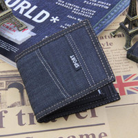 Newst Trendy Casual Notecase Short Design Canvas Portefeuilles Denim Sport Credit Card Holders Coin Purse for Boys