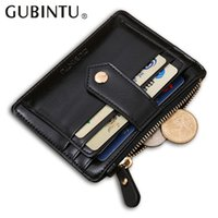 Wholesale Pure Leather Wallets - Quality Assurance pu leather card wallet with zipper pocket casual small wallet mini pure man hasp credit card holder
