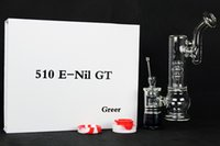 Wholesale Kits For Nail Design - G9 enail GT bong kit big water chamber for herb oil wax replaceable design of atomizer, quartz nail