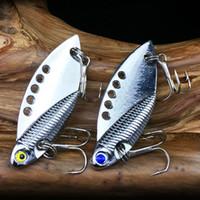 Wholesale Metal Lure 5cm - 10pcs 5cm 11g VIB Spoons Fishing Hooks Fishhooks Lures Fishing Lure Metal Baits 6# Hook Artificial Pesca Tackle Carp Fishing Accessories