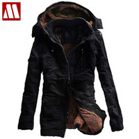 Wholesale Low Price Fur Coats - Wholesale- 2016 New Fashion Men's Fleece Faux Fur Winter Coat Hoodies Parka Overcoat Big size Cotton Jacket lowest price Free shipping 5XL