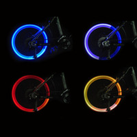 Atacado 3pcs / lot Led Flash Tire Wheel Valve Cap Light para bicicleta de carro Bicycle Motorbicycle Wheel Light Tire (vermelho, amarelo, azul, verde)