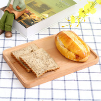 Wholesale Wholesale Fruit Cakes - 2017 Rectangular wooden tray, daily necessities home tea tray fruit plate, beech tableware set cake plate
