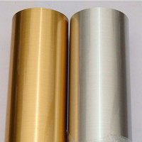 Wholesale Black Contact Adhesive - Wholesale- Metallic Silver Gold Film Self adhesive Stainless Steel Contact Paper 5 meters DIY Wallpaper