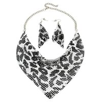 baberos fiesta de boda al por mayor-MANILAI Indian Jewelry Set Chic Style Shining Metal Slice Bib Gargantilla Collares Pendiente Partido / Boda Conjuntos de joyería de moda 2017