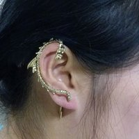 Ear Cuff oriental dragon - Personality Oriental Dragon Chinese dragon shaped earrings small gifts