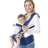 tirantes de mochila al por mayor-Nueva mochila ergonómica portabebés multifunción transpirable Mochilas portabebés carro niño envolvente con tirantes + asiento